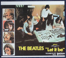 THE BEATLES POSTER PAGE 1970 LET IT BE REPRO MOVIE POSTER . F17