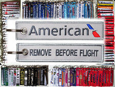 American Airlines AA keyring tag keychain REMOVE BEFORE FLIGHT NEW logo
