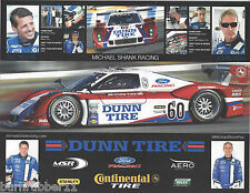 2013 OZZ NEGRI JOHN PEW DUNN TIRE #60 SHANK FORD GRAND AM ROLEX SERIES POSTCARD