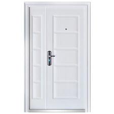 Haustür Tür Sicherheitstür Doppeltür Wohnungstür 120 x 205 cm DIN Links Weiß
