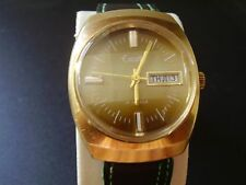 VINTAGE EXCELLE/ELGIN MAN DAY/DATE LARGEST WATCH 17 JEWELS-SWISS- VCLEAN RUNNING