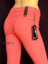 ONLY Jeggings Jeans Ultimate Str Low S L34 W27 36 Koralle Hose Legins Skinny Neu