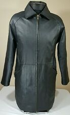 G-III Leather Jacket Men Sz M Full Zip Coat Long Casual Fall Spring
