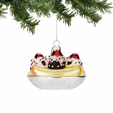 4053737 Mrs Claus Sweet Shop Banana Split Christmas Dept 56 Holiday Ornament
