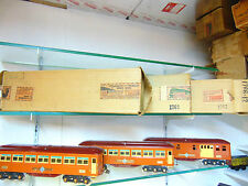 Lionel-Ives original prewar high grade terracotta&maroon transition cars in o/b