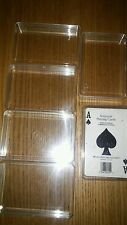 6 Plastic Storage Display Boxes Playing Cards or Business Card Boxes 4x2-1/2x5/8