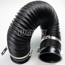 "75mm Pure Black Hose Forced Induction 3"" Pipe for Cold Duct Air Feed With Ends"