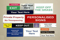 Engraved Signs and Plaques in Various Colours - Personalised to your requirments