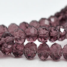 Plum Purple Faceted Wholesale Round Rondelle Crystal Beads 8x6mm - G1649