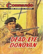 Commando For Action & Adventure Comic Book Magazine #1419 DEAD-EYE DONOVAN