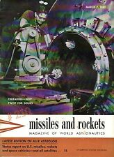 ARPA Dark Satellite Detection System  MISSILES and ROCKETS Magazine 7 March 1960