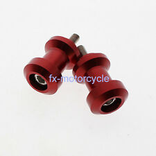 8mm Red Swingarm Spool Slider Fit GSF1250 Bandit GSF1250S Bandit SV650/S TL1000R