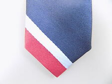 "TOMMY HILFIGER $70 KIDS Blue Striped Skinny WIDTH 2"" NECK TIE RED SALE M10"