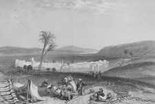 Israel, Sea of Galilee TIBERIAS TVERIA TIVERIA ~ Old 1835 Art Print Engraving