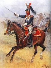 PAINTING POLISH ARMY CHELMINSKI 14TH CUIRASSIER REGIMENT  PRINT POSTER LF672