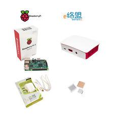 Raspberry pi 3 model B package include board+case+power adapter+heat sink