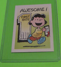 1992 WEET-BIX PEANUTS SWAP CARD SERIES CARD #9 FROM AUSTRALIA LUCY FIRST RATE #1