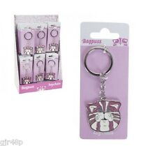 BAGPUSS Keyring - Metal Bagpuss Key ring with Classic colouring GIFT Keychain