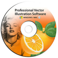 NEW 2016 Professional Illustrator Vector Graphics Image Drawing Software Program