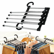 1pc Closet Organizer Trouser Pants Ties Scarf Shawl Rack Hanger Space Saving UL