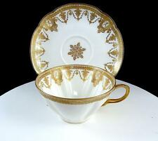 "HAVILAND LIMOGES BEDELL CO GOLD BOW & ARROW TORCH 2 1/8"" CUP & SAUCER 1890-1900"