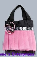 Light Pink Zebra Tutu Hand Bag/Purse with Hair Elastics