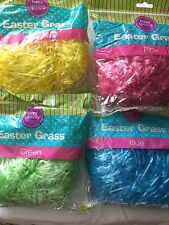 Happy Spring Easter Grass - Assorted Colors (Blue, Pink, Green, Yellow)