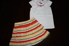 LOT Gymboree Girls Garden Daisy Flower Dress Shirt Top Skirt 2 pc set outfit 12