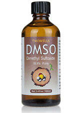DMSO Pharma Grade 99.9% Dimethyl Sulfoxide 70% Conc 100ml Glass Bottle + Pipette