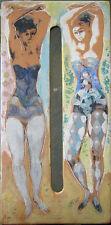 1961 JON CORBINO, N.A. (1905-1964) 10 inch CERAMIC DANCERS tissue box cover