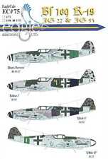 EagleCals Decals 1/32 MESSERSCHMITT Bf-109K-4 Fighter JG27 & JG55