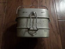 WWII ITALIAN MILITARY 3 PIECE MESS KIT ALUMINUM HEAVY DUTY