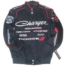 4XL Dodge Charger Racing Embroidered Cotton Jacket JH Design Black Generic XXXXL