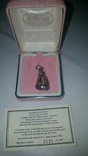 Limited Edition Disney Sterling Silver Cinderella Charm with COA, Bell in dress