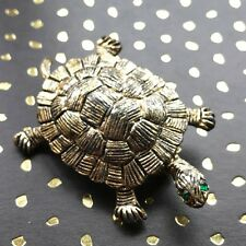 Gold Bronze Sea Turtle Pin Gerry's Tortoise Brooch Honu Spirit Animal Collector