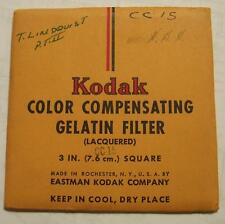 "KODAK WRATTEN GELATIN FILTER NO.CC15 3"" or 7.6cm Square"