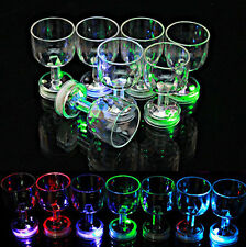 Utility Distinctive Flashing Led Wine Glass Light Up Barware Drink Cup Great