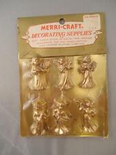 Vtg 1970s Merri-Craft Gold Angels Decorating Crafts Christmas Lot of 6 NEW
