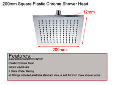 200mm Square Plastic Chrome Shower Head