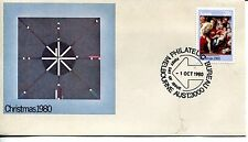 1980 AUSTRALIA CHRISTMAS OFFICIAL CACHET UNADDRESSED FDC