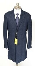 Mens CANALI Kei Blue Melange Wool Silk Unconstructed Coat Jacket 48 38 R S NWT!
