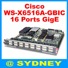 Cisco WS-X6516A-GBIC Switch Module for Catalyst 6500 Series - 16-Ports GigE