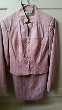 Ladies 'Pretty One' Pink Feminine Two Piece Skirt and Jacket Suite Size XS EUR34