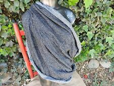 Nursing Cover Scarf Breastfeeding cover circle infinity scarf Black silver lycra