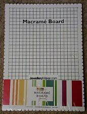 "WHITE Large Macrame Board 39X29cm Grid 10""x14"" crafts Jewellery Making Tools"