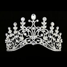 Bridal Pageant Flower Rhinestone Crystal Wedding Prom Crown Tiara 7970