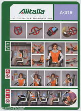 Alitalia CAI A-319 safety card 64502091 14/06/2012 17x24cm -very good cond sc550