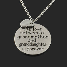 Family Best Gift Necklace Jewelry Forever Love Between Grandmother Granddaughter