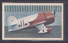 Ca 1944 AIRPLANE GRANVILLE GEE-BEE W/DATA ON BACK MINT PICTURE POSTCARD
