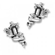 Alchemy of England Tattoo Gun Stud Earrings in Silver